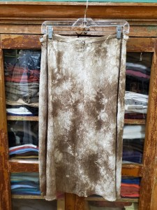 Raquel Allegra ARMY Tie Dyed Bias Skirt YO 8325TD