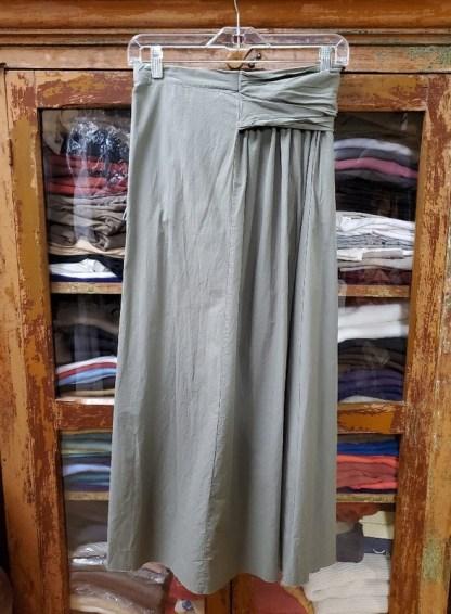 elsa esturgie ambre skirt in vert de gris