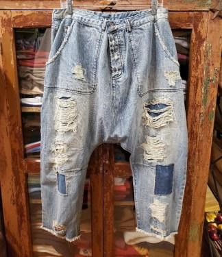 Magnolia Pearl Denim French Army Pants 171 in washed Indigo
