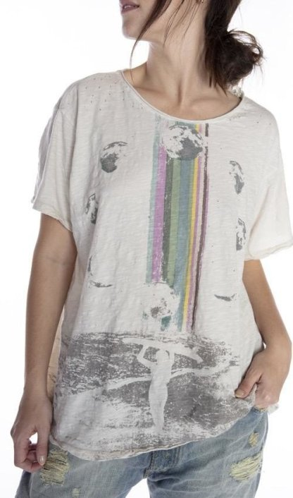 Magnolia Pearl Cotton Jersey Rainbow Surfer T Top 929 - Moonlight
