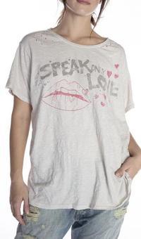 Magnolia Pearl Cotton Jersey Speak Love T Top923 - Moonlight