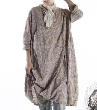 Magnolia Pearl European Cotton Eathelyn Dress 697 - Kalamkari