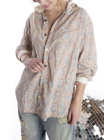 Magnolia Pearl Boyfriend Shirt Top 943 -- Floraison