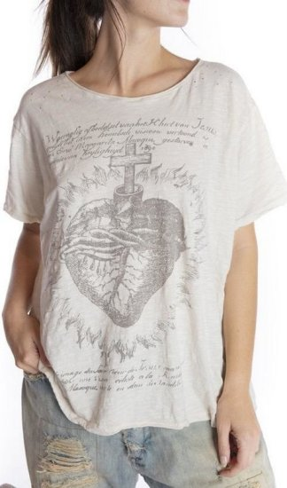 Magnolia Pearl Faith Heart T Top 947 -- Moonlight
