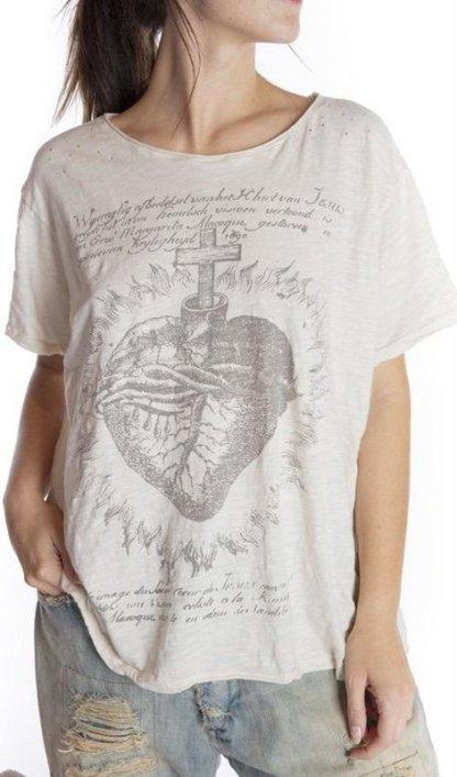 Magnolia Pearl Faith Heart T Top 947 -- Moonlight