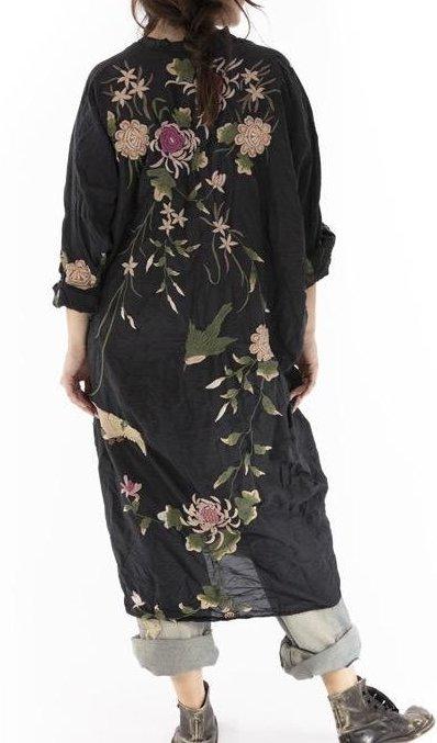 Magnolia Pearl Bonita Kimono Jacket 480 Midnight