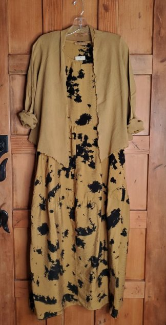 cut-loose Seamed Bubble Dress - Inklot 1911 in Brass