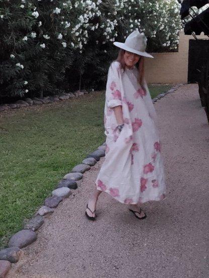Magnolia Pearl Floral Applique Dress 698 - Natural