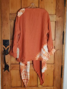 Krista Larson Basic Tie Dye Jacket 0912 Tangerine Side Ring