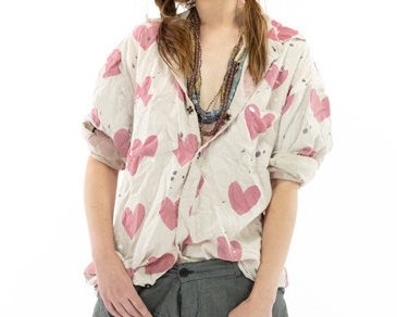 Magnolia Pearl Kelly Western Shirt Top 1043 Crush
