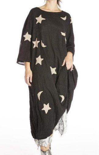 Magnolia Pearl Star and Moon Applique Merlina Dress 701 Midnight