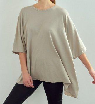 Amente -- Loose Fit Garment Dye T-Shirt 5303 Taupe Grey