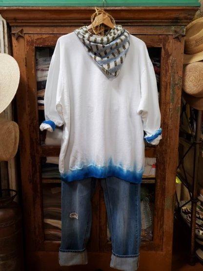 UQNATO Oversized Dip Sweat Shirt 5556 Marine Tie-Dye