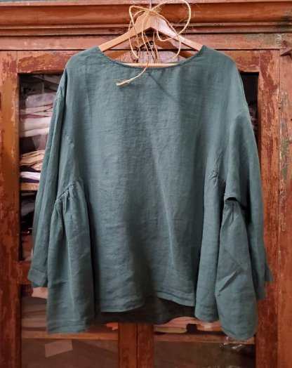 Metta Melbourne Penelope Gathered Top 8743 Sycamore Green