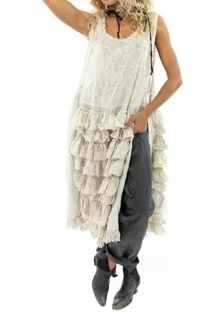 Magnolia Pearl Risette Apron Dress 751 Moonlight