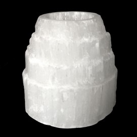 Selenite Mountain Tealight Holder ( Large )