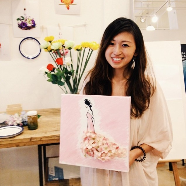 Attended a Fashion Illustration + Acrylic Painting workshop