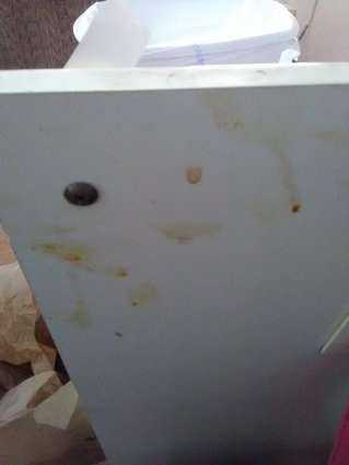 slob, humor, cabinet door-dirty
