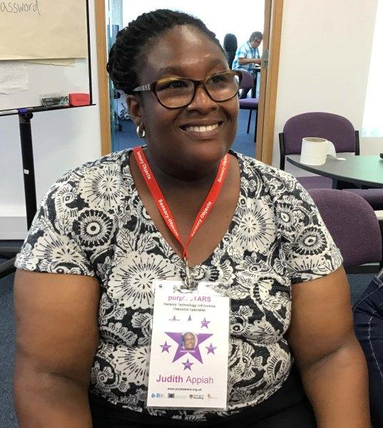 purpleSTARS employee Judith Appiah