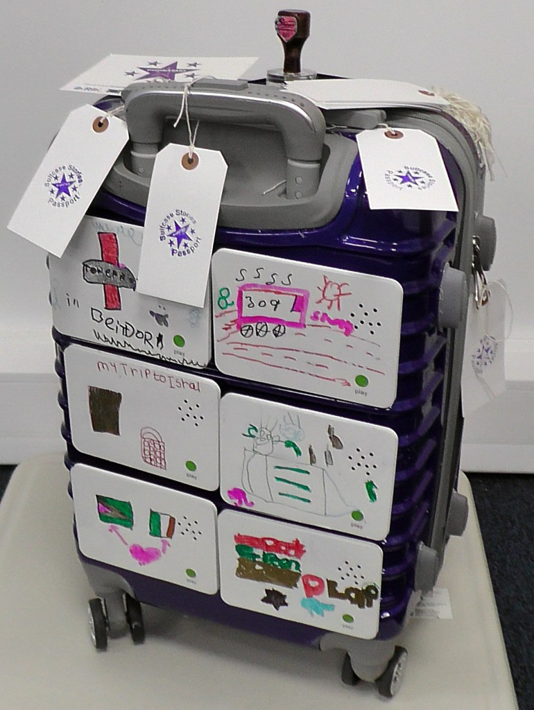 This is a picture of the purpleSTARS Stories Suitcase