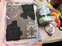 Adding modeling paste through stencils