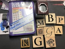 Large Letter stamps and clear alphabet stamps