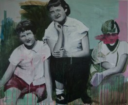 Painting of two women and a young girl.
