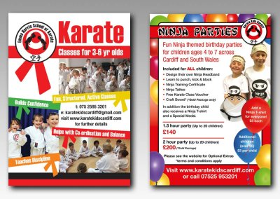Karate Kids Cardiff Advertising