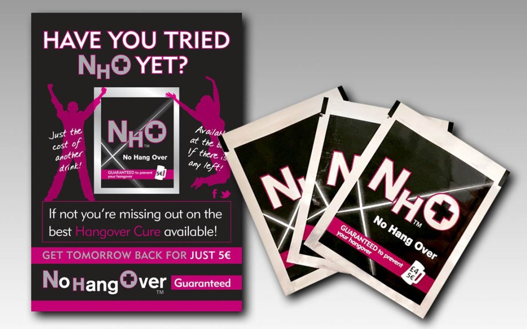 No HangOver Branding, Print and Packaging