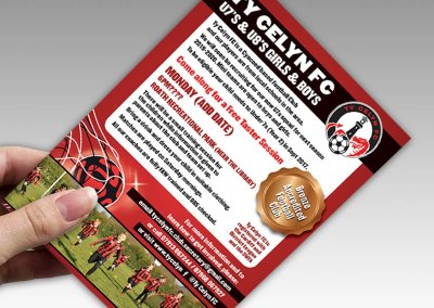 Ty Celyn Football Club Flyer