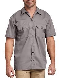 Short Sleeve Work Shirt (Silver)