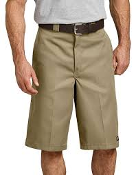 "13"" LOOSE FIT MULTI-USE POCKET WORK SHORTS (KHAKI)"