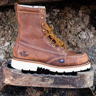 American Heritage – 8″ Trail Crazyhorse – Moc Toe MAXwear 90 (Steel Toe)