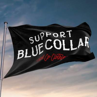 Support Blue Collar Flag (Barricade)
