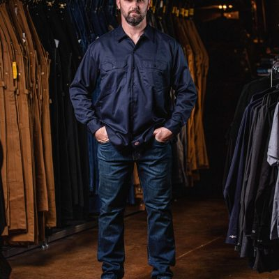 Long Sleeve Work Shirt (Dark Navy)