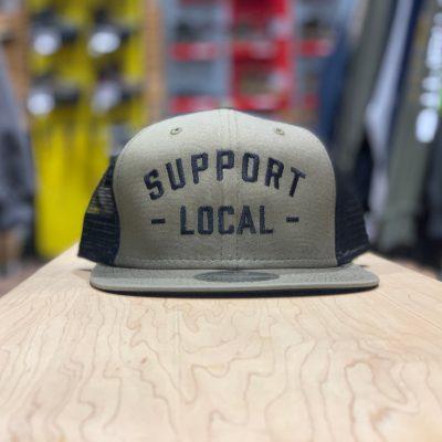 Support Local Meshback (Olive / Black)