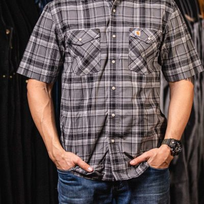 Rugged Flex Relaxed Fit Plaid Shirt (Shadow)