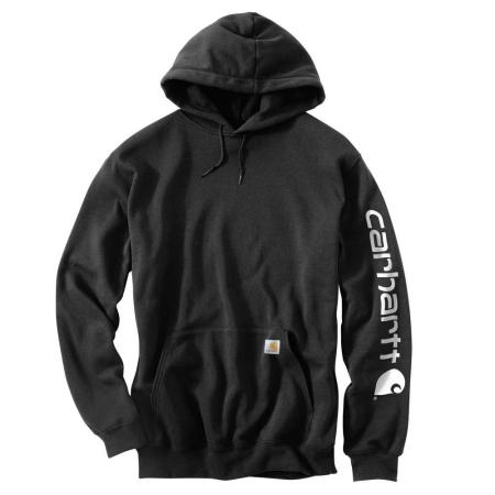 MIDWEIGHT HOODED LOGO SWEATSHIRT (BLACK)