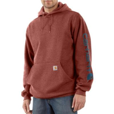 Midweight Hooded Logo Sweatshirt (Henna Heather)