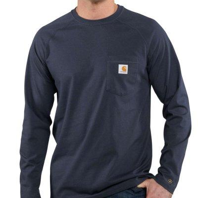 Men's Force Cotton Delmont Long Sleeve T-Shirt (Navy)