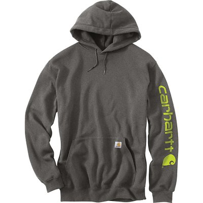 Midweight Hooded Logo Sweatshirt (Carbon Heather)