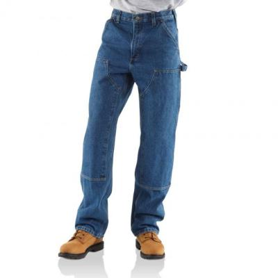 Loose Original Fit Washed Logger Double Front Work Jean (Denim)
