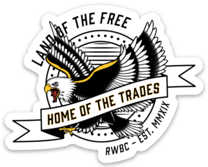 Home of the Trades Sticker
