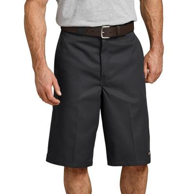 13″ Loose Fit Multi-Use Pocket Work Shorts (Black)