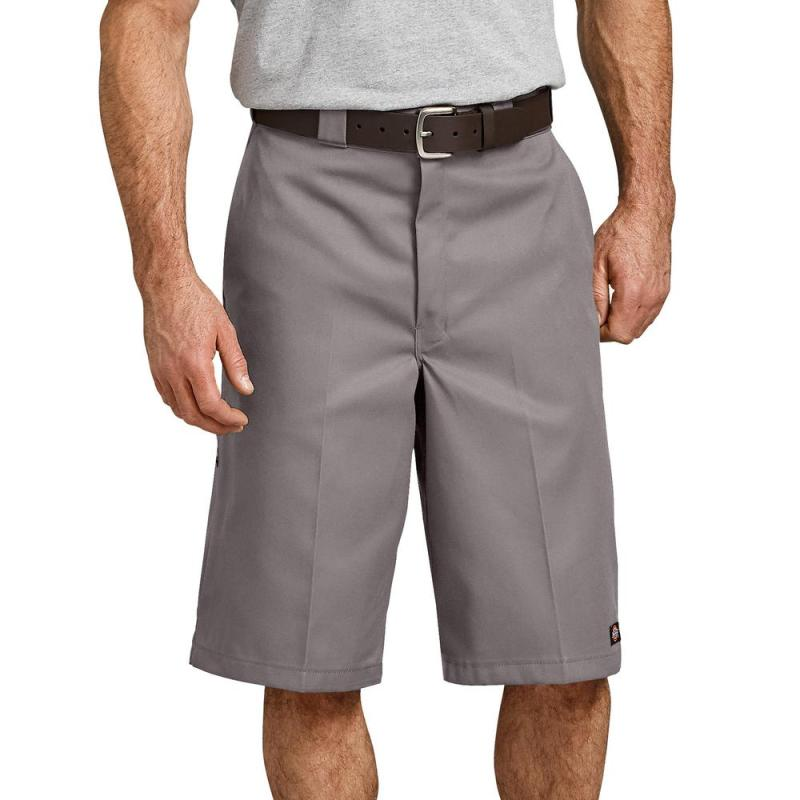 13″ Loose Fit Multi-Use Pocket Work Shorts (Silver)