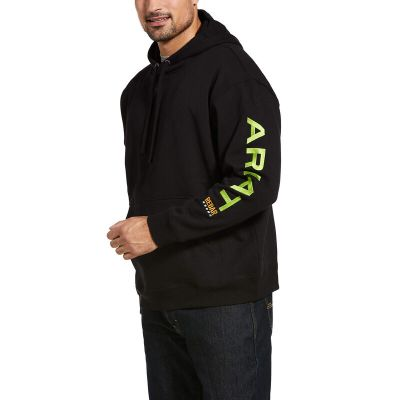 Rebar Graphic Hoodie – Black/Lime