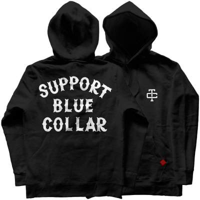 Support Blue Collar Hoodie – Black
