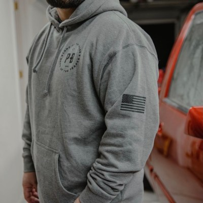 Purpose-Built Logo Hoodie – Grey