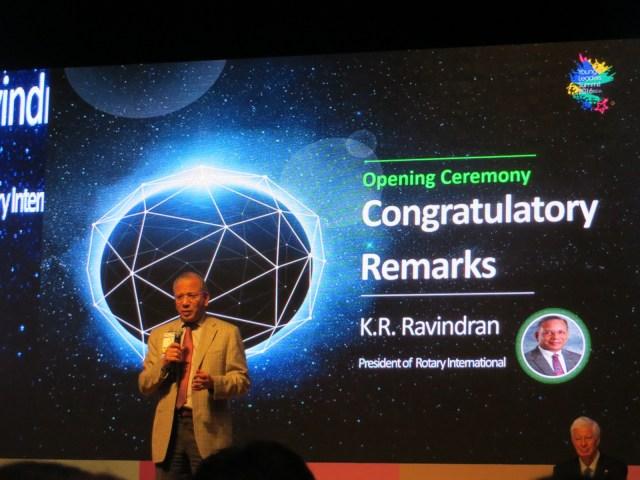 RI President K. R. Ravindran. An amazing speaker and really nice guy, May 27, 2016