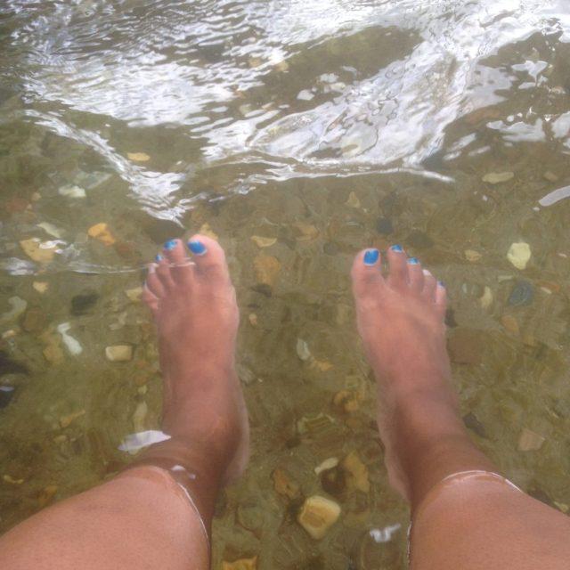 Soakin' my tired feet. Man, I sound old, lol. September 6, 2016